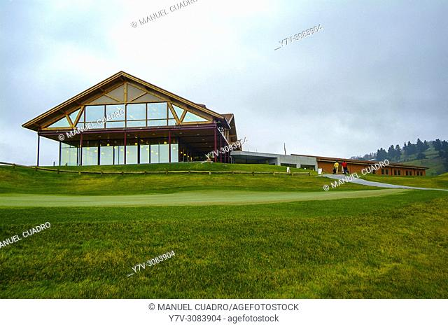 Meaztegi Golf de La Arboleda, Restaurant building and surroundings. Biscay, Basque Country, Spain