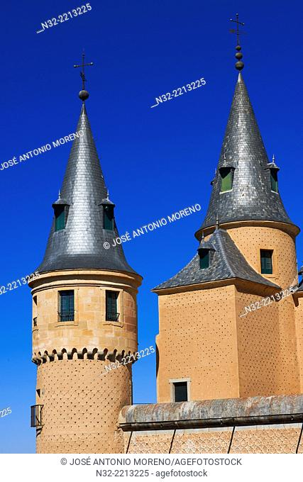Alcazar, Fortress, Segovia, Castilla-Leon, Spain