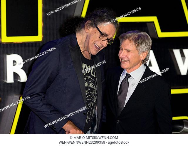 The European Premiere of 'Star Wars: The Force Awakens' held at the Odeon and Vue, Leicester Square - Arrivals Featuring: Harrison Ford