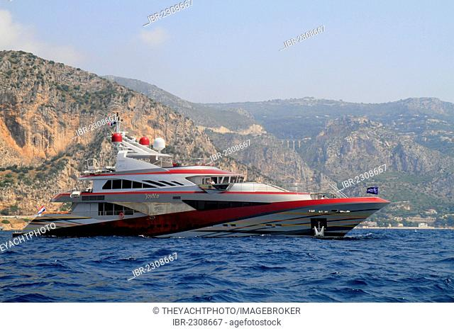 JoyMe, a cruiser built by Philip Zepter Yachts, length: 49.91 meters, built in 2011, Cap Ferrat, French Riviera, France, Europe