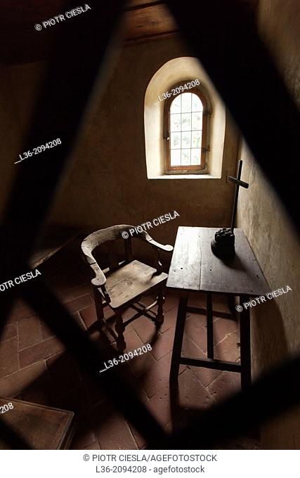 A monks cell in the San Francesco monastery, Fiesole, Italy