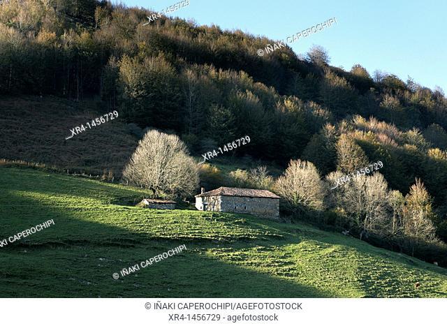 Farmhouse at Belate mountain pass, Navarra, Spain