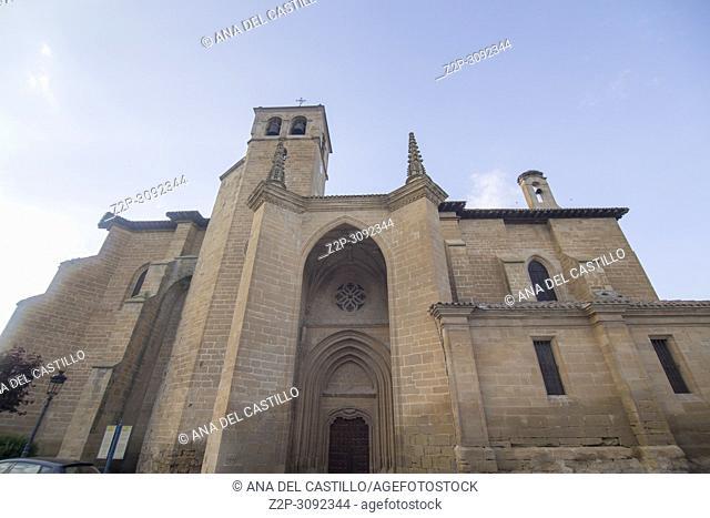 Santa Cruz Church in Banyares . La Rioja. Spain
