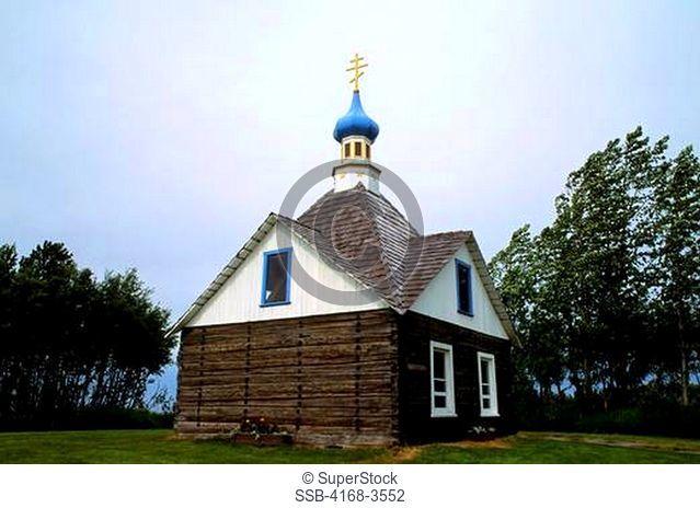 Usa, Alaska, Kenai, Saint Nicholas Memorial Chapel, 1906