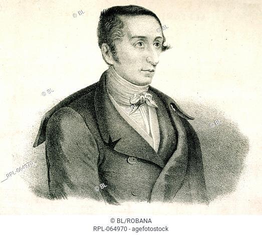 Carl Maria Friedrich von Weber 1786-1826. German composer and pianiSt Portrait. Image taken from Aufforderung zum Tanze. Originally published/produced in Schott