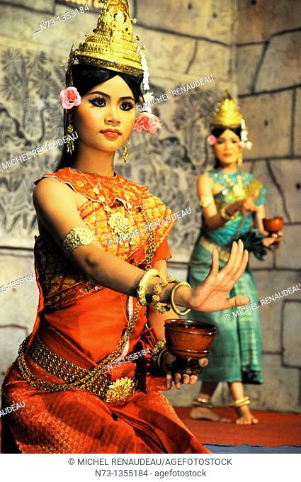 Cambodia, Siem Reap Province, Siem Reap, Apsara Theater, Khmer Classical Dance, listed as World Intagible Cultural Heritage by UNESCO