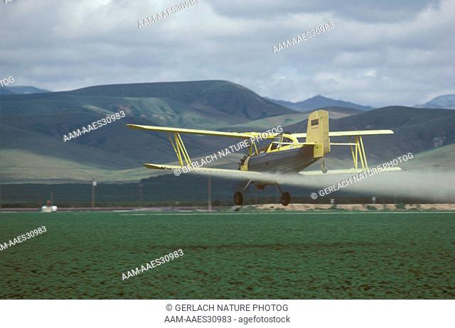 Cropdusting Plane Kern County, California