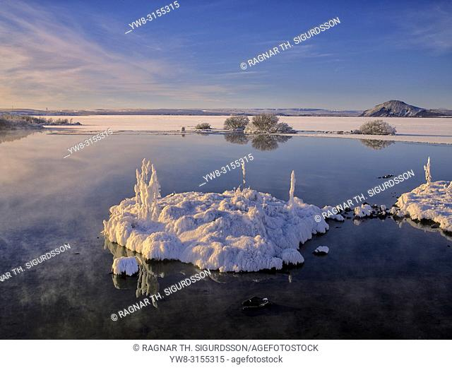 Winter, Lake Myvatn, Iceland