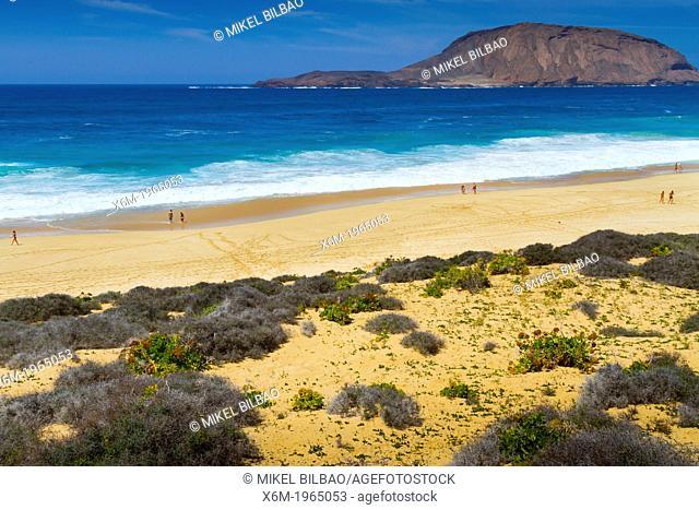 Las Conchas beach. La Graciosa island. Chinijo Archipelago