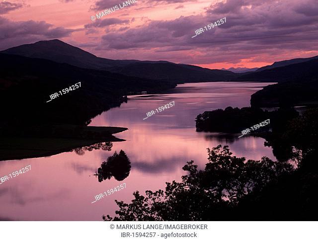 View from Queen's View on Loch Tummel, Tayside Region, Scotland, United Kingdom, Europe