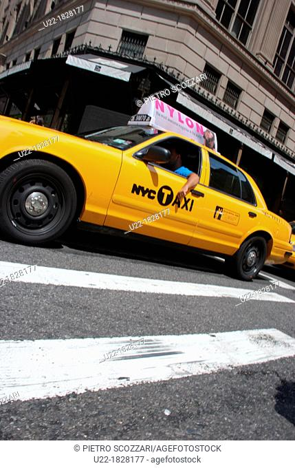 New York City, taxi in Manhattan