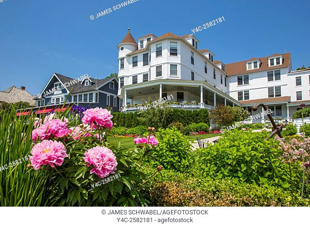 Victorian house on Mackinac Island in Michigan
