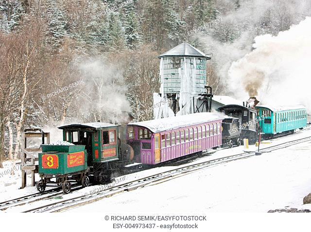 Mount Washington Cog Railway, Bretton Woods, New Hampshire, USA