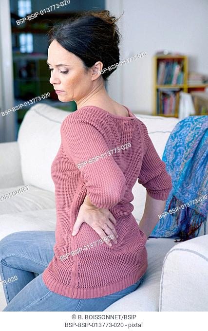 Lower back pain in a woman