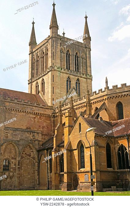 Abbey Church of the Holy Cross, Pershore, Worcestershire, England, founded 972 AD