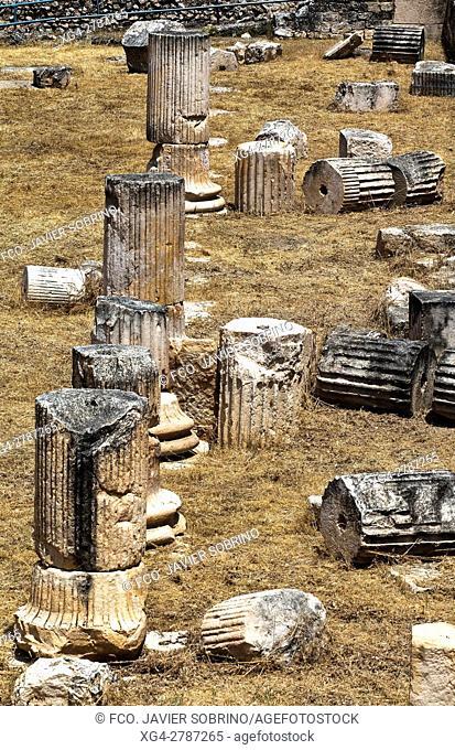 Yacimiento arqueológico romano de Segóbriga. Cuenca - Castilla-La Mancha. Spain