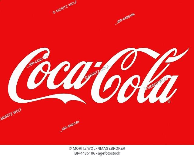 Coca Cola logo on red background