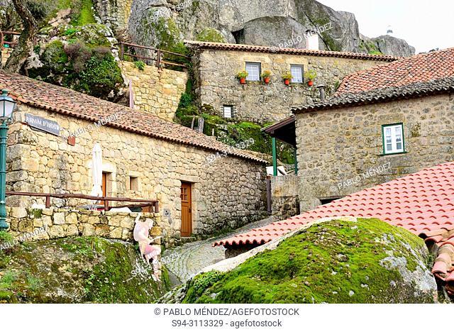 Street and rocks of Monsanto, Castelo Branco province, Portugal