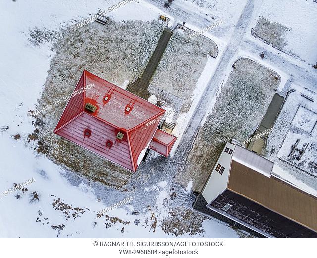 Arbaejarsafn Museum- Aerial view of old houses, Iceland