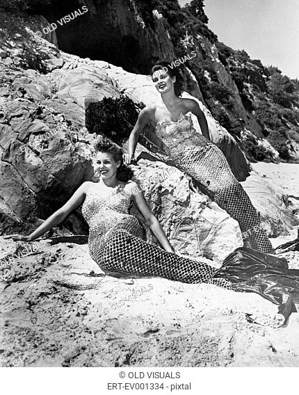 MERMAIDS All persons depicted are not longer living and no estate exists Supplier warranties that there will be no model release issues