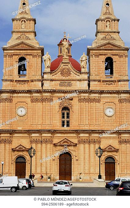 Church of Our Lady of the Victory in Mellieha, Malta island