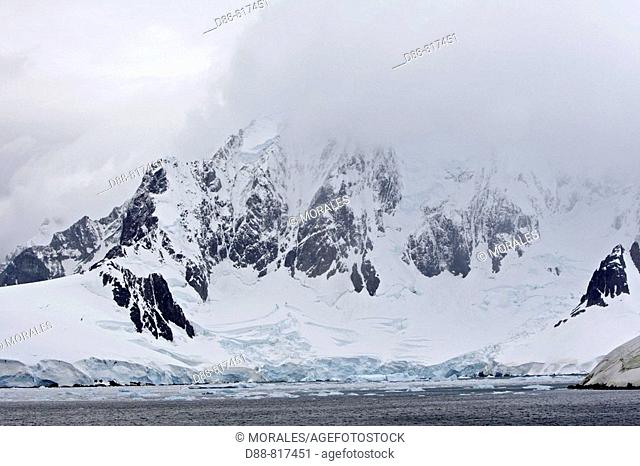 Glacier by the Lemaire Channel, Antarctica