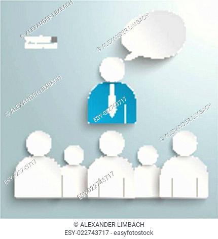 Business Conference Humans Speech Bubble