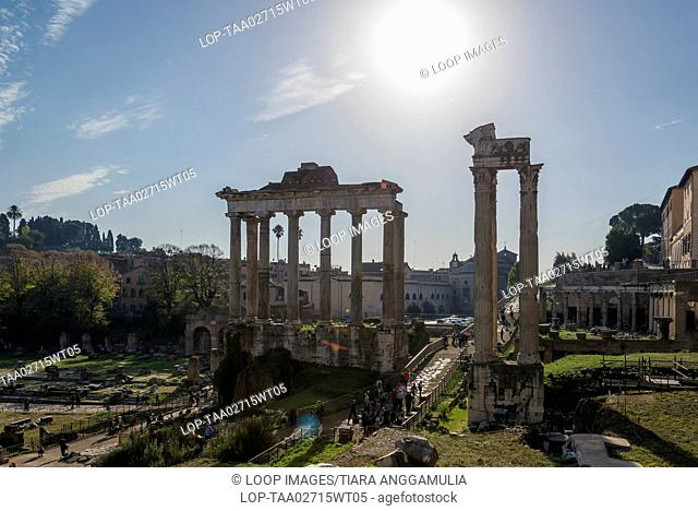 A view towards the ruins of the Roman Forum