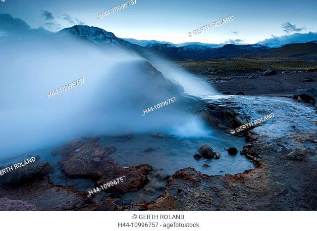 Chile, Atacama, geyser