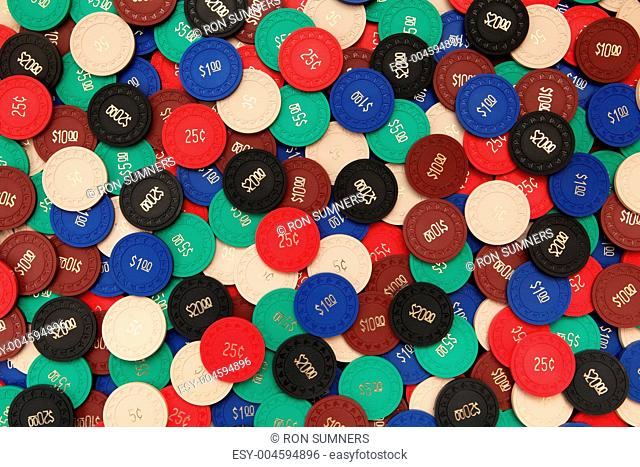 Poker chips background