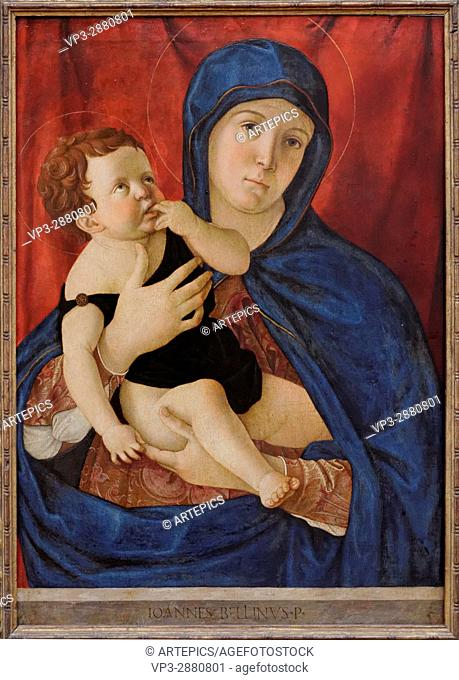 Giovanni Bellini - Mary and the Child - XV th Century - Italian School - Gemäldegalerie - Berlin