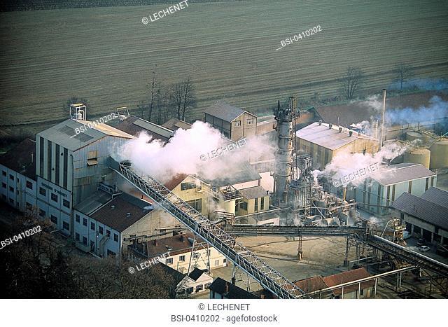 Sugar factory in the Burgundy region of France