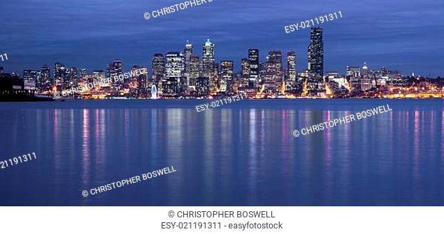 Seattle Waterfront Night