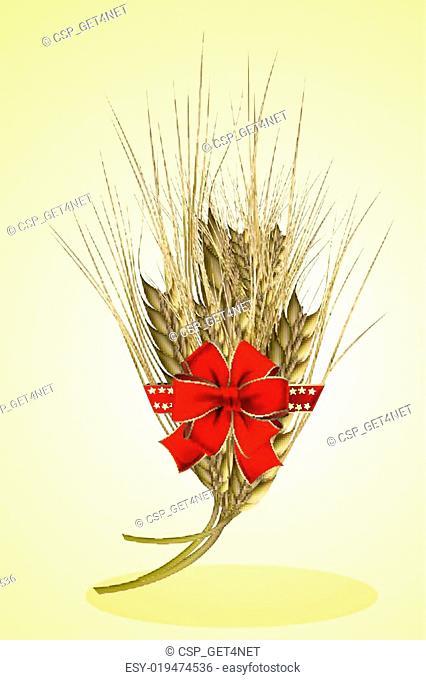 grain with ribbon