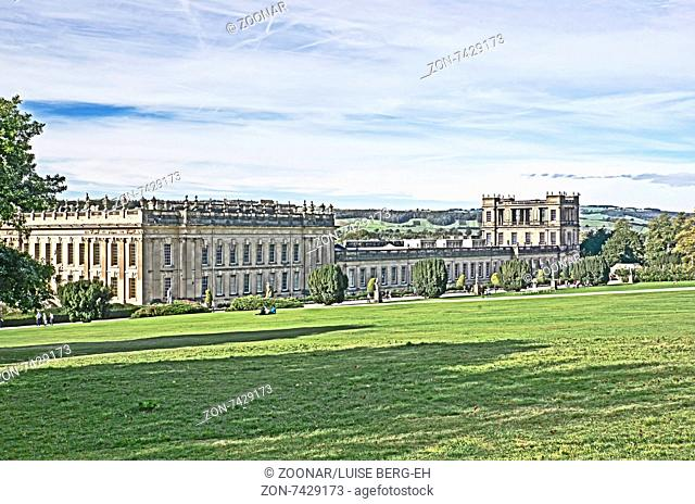 Chatsworth House, Derbyshire, home of the Dukes of Devonshire