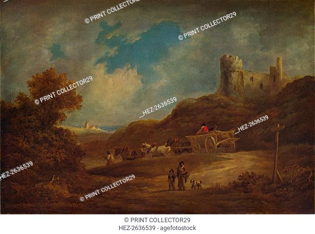 A Castle, with Waggon and Horses', c1886, (1938). Artist: Francis Towne