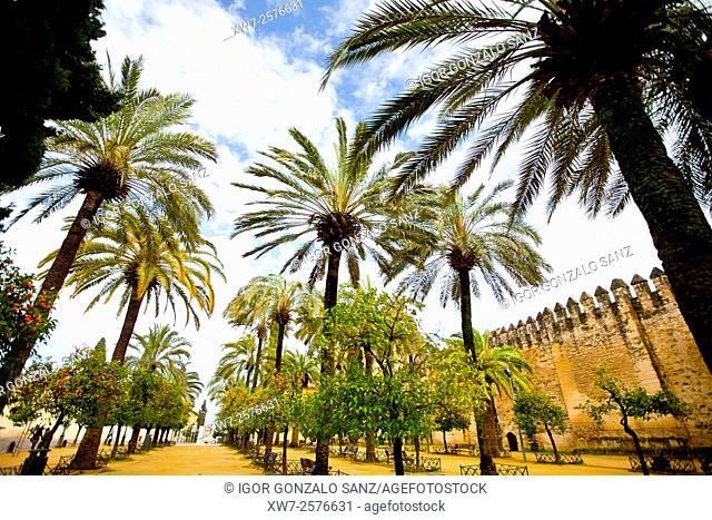 Alcázar de los Reyes Cristianos (Christian Kings Alcazar) in Cordoba (Andalusia, Spain, Europe)