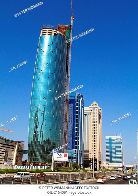 Dubai, Sheik Zayed Road, Moderne Skyline, United Arab Emirates