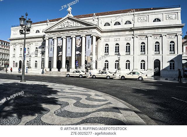 National Theatre (Teatro Nacional D. Maria II, National Theatre of D. Maria II), Rossio Square (Praça do Rossio, Praça de D