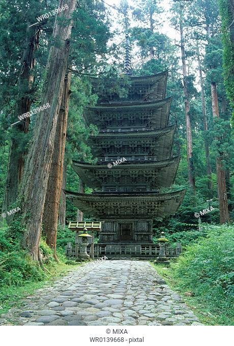 Five-story Pagoda, Tsuruoka, Yamagata, Japan