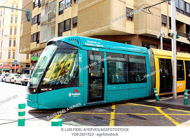 Tram in Tenerife, Canary Islands, Spain