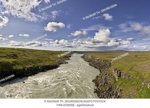 Thjorsa river, South Coast, Iceland