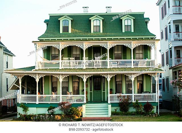 Many Victorian homes have been converted into Bed and Breakfast hotels in Cape May