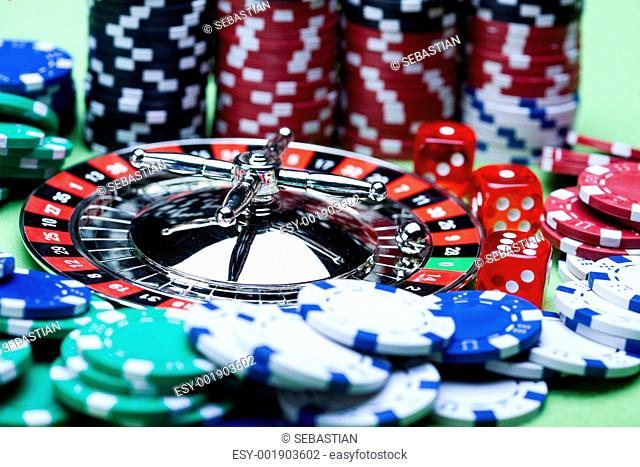Roulette & Chips in Casino