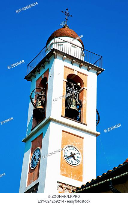 ancien clock tower in italy europe and bell