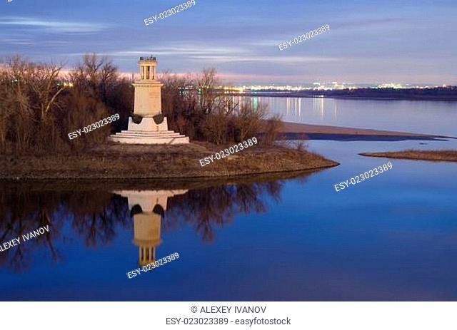 Lighthouse at the entrance of Volga-Don canal