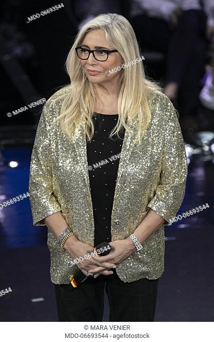 Italian tv host Mara Venier during the episode of Domenica In dedicated to 69th Sanremo Music Festival. Sanremo (Italy), February 10th, 2019