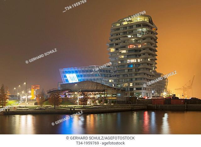 Marco Polo Tower at Hafen City Hamburg, Germany