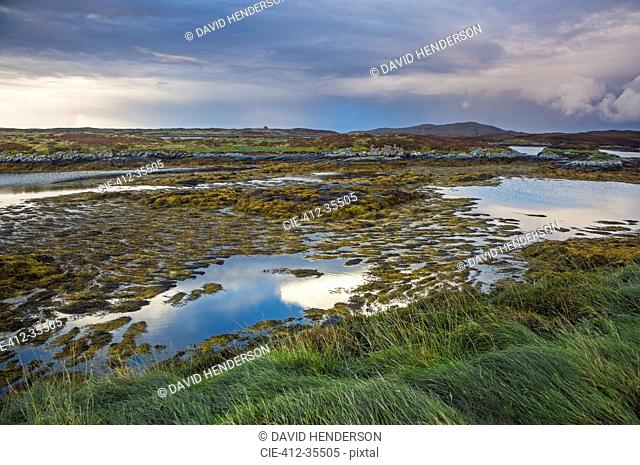 Tranquil lake view, Loch Euphoirt, North Uist, Outer Hebrides