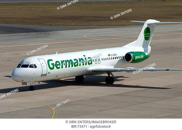 Air Germania airplane at Tegel airport, Berlin, Germany, Europe